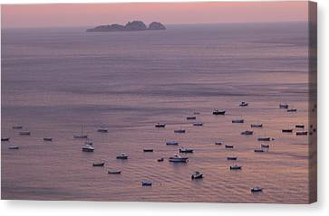 Canvas Print featuring the photograph Siren Island - Positano by Nora Boghossian