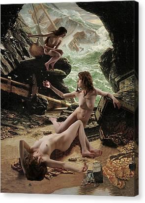 Sirens' Cave Canvas Print