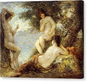 Sirens Canvas Print by Ignace Henri Jean Fantin-Latour