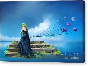 Sirens Lure Canvas Print by S G