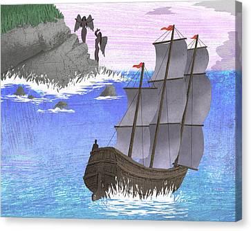 Sirens Canvas Print by Steve Dininno