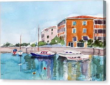 Sirmione Waterfront Canvas Print by Susie Jernigan