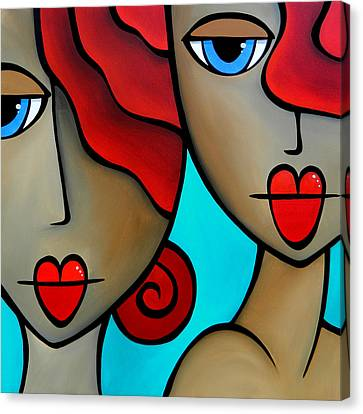 Sister Act By Thomas Fedro Canvas Print
