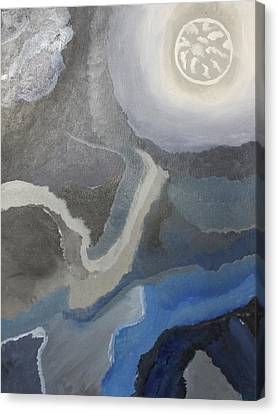Sister Moon Canvas Print by Sarah E Kohara