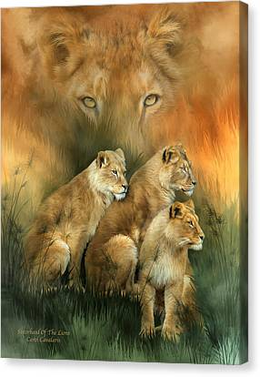 Sisterhood Of The Lions Canvas Print by Carol Cavalaris
