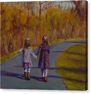 Sisters Always Canvas Print