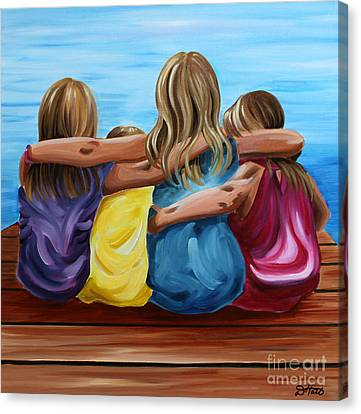 Sisters Canvas Print by Debbie Hart