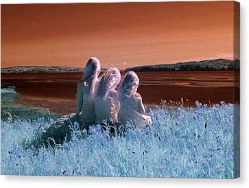 Sisters Dreaming Canvas Print by Rebecca Parker