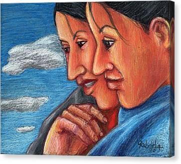 Sisters Canvas Print by Gabriela Nunez