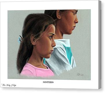 Sisters Print Version Canvas Print