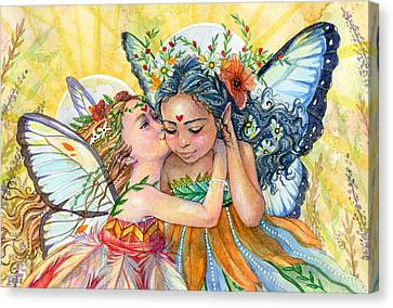Sisters Canvas Print by Sara Burrier