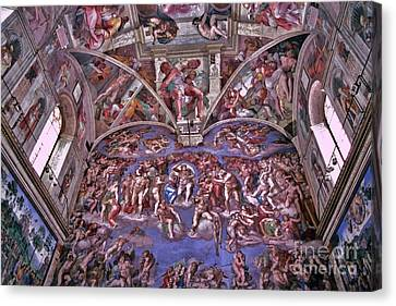 Canvas Print featuring the photograph Sistine Chapel by Allen Beatty