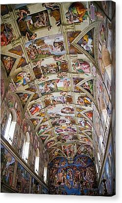 Sistine Chapel Ceiling. Canvas Print by Mark Williamson