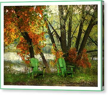 Sit A While Canvas Print by Dianne  Lacourciere