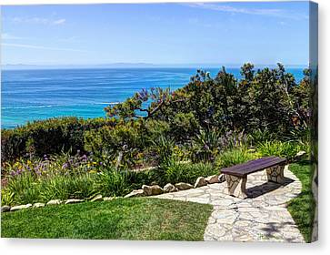 Palos Verdes Cove Canvas Print - Sit And Stay A While by Heidi Smith