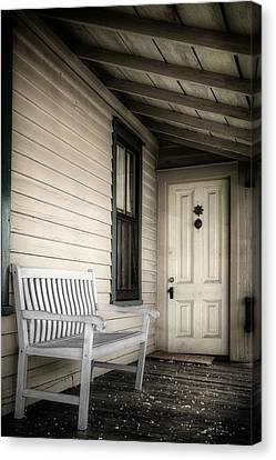 Sit Awhile Canvas Print by Joan Carroll