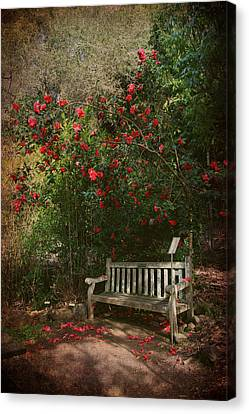 Textured Landscape Canvas Print - Sit With Me Here by Laurie Search