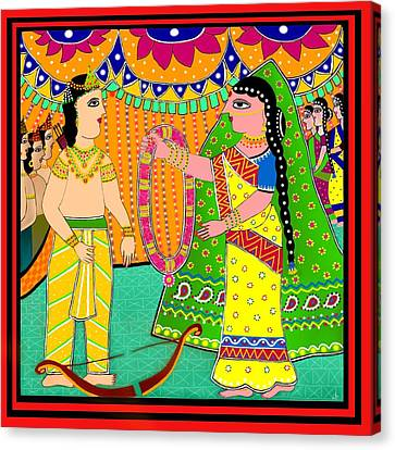 Sita's Wedding Canvas Print