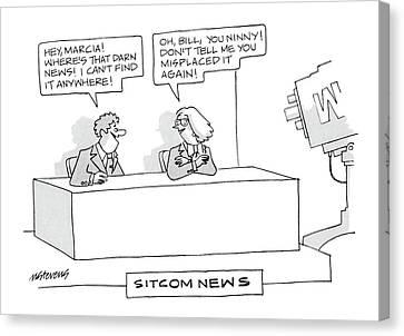 Sitcom News 'hey Canvas Print by Mick Stevens