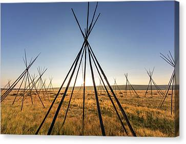 Site Of Chief Joseph Of The Nez Perce Canvas Print by Chuck Haney
