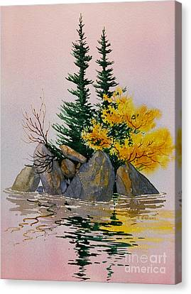 Canvas Print featuring the painting Sitka Isle by Teresa Ascone