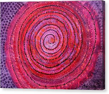 Sits In The Middle And Knows Original Painting Canvas Print