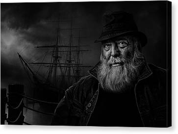 Sitting At The Dock Of The Bay Canvas Print