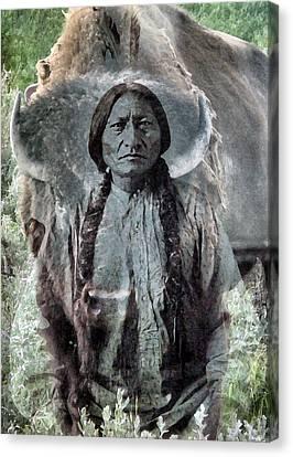 Sitting Bull . Lakota Sioux Holy Man Canvas Print by Patricia Januszkiewicz