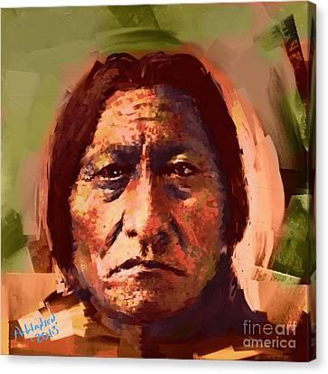 Sitting Bull Canvas Print by Arne Hansen