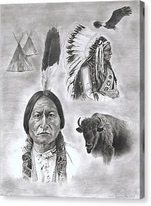 Sitting Bull Canvas Print by Jessica Hallberg