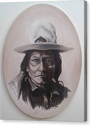 Sitting Bull Canvas Print by Michael  TMAD Finney
