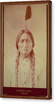 Braids Canvas Print - Sitting Bull, Sioux Chief, C.1885 Bw Photo by David Frances Barry