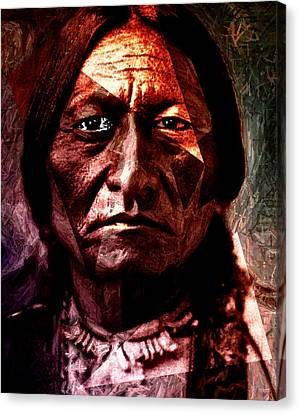 Sitting Bull - Warrior - Medicine Man Canvas Print by Hartmut Jager