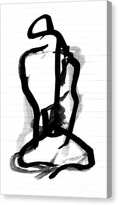 Sitting Figure Canvas Print by Christine Perry