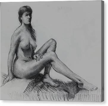 Sitting Figure Canvas Print by Ernest Principato