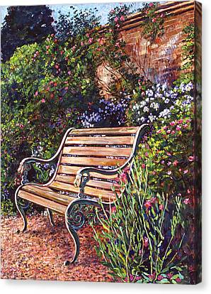 Sitting In The Garden Canvas Print by David Lloyd Glover