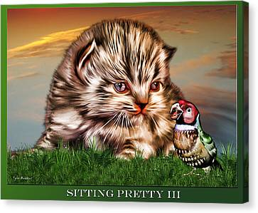 Canvas Print featuring the painting Sitting Pretty 3 by Tyler Robbins
