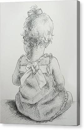 Sitting Pretty Canvas Print by Kelley Smith