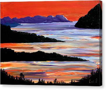 Sitting Seaside Canvas Print
