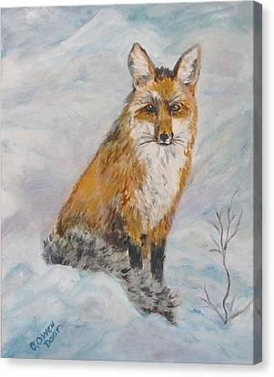 Sitting Sly Canvas Print by Caroline Owen-Doar