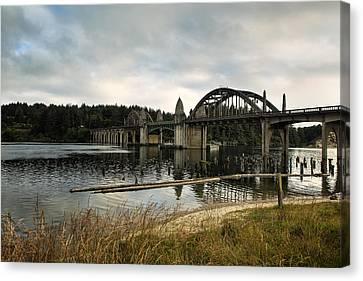 Siuslaw River Bridge Canvas Print by Belinda Greb