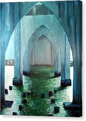 Siuslaw River Bridge Canvas Print by Kenny Henson