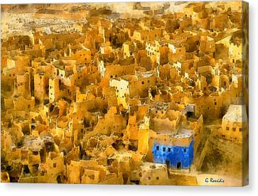 Siwa Oasis Canvas Print by George Rossidis