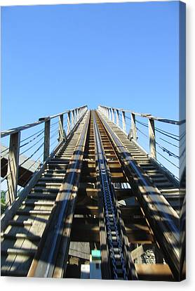 Six Flags America - Roar Roller Coaster - 12121 Canvas Print by DC Photographer