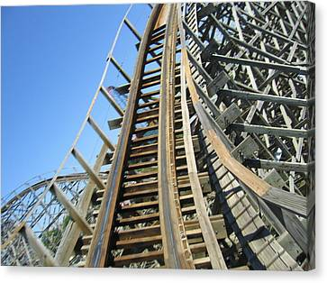 Six Flags America - Roar Roller Coaster - 12123 Canvas Print by DC Photographer
