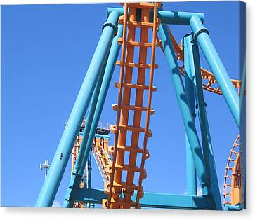 Six Flags America - Two-face Roller Coaster - 12122 Canvas Print