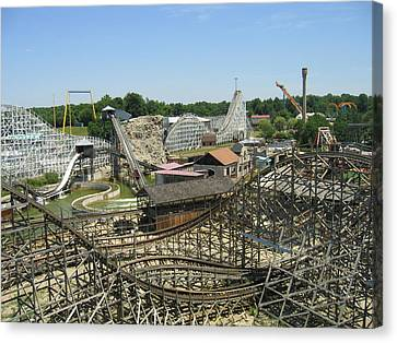 Six Flags America - Wild One Roller Coaster - 121210 Canvas Print by DC Photographer