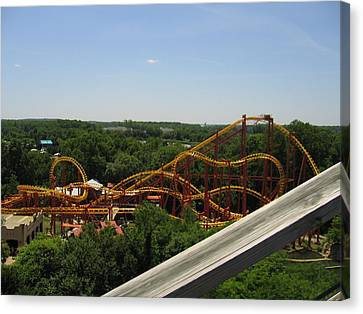 Six Flags America - Wild One Roller Coaster - 121211 Canvas Print by DC Photographer