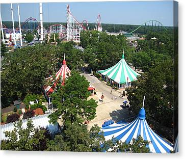 Six Flags Great Adventure - 121210 Canvas Print by DC Photographer