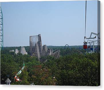 Sixflags Canvas Print - Six Flags Great Adventure - 12124 by DC Photographer